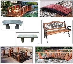 Garden Bridges & Benches