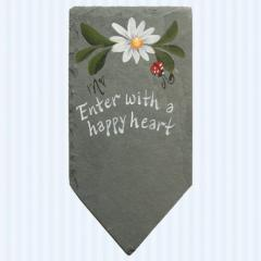 Enter with a happy heart Garden Marker