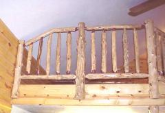 Custom Railing at Angled Ceiling