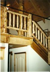 Cedar Log Railing System