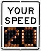 Radar-Speed Signs