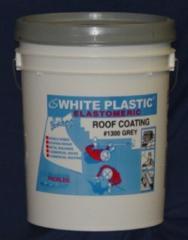 #1300 Grey White Plastic elastomeric acrylic grey