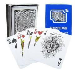 Marion Pro Poker 100% Plastic Playing Cards Blue