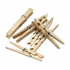 Flat-slotted clothespins