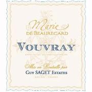 Guy Saget Vouvray Marie de Beauregard