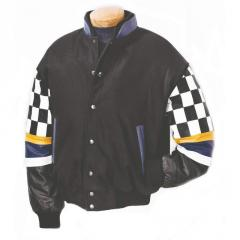 Burk's Bay Wool/Leather Racing Jacket