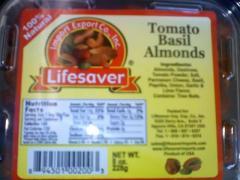 Tomato Basil Almonds