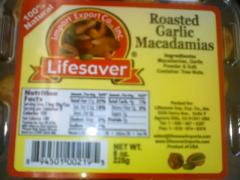 Roasted Garlic Macadamias