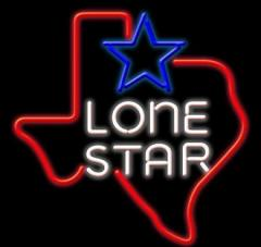 Beer Neon Sign Lone Star with Texas Map