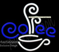 Coffee Cup with Steam Neon Sign