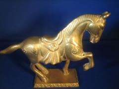 Horse Sculpture in Brass