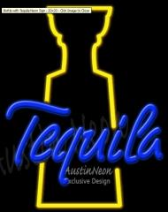 Bottle with Tequila Neon Sign
