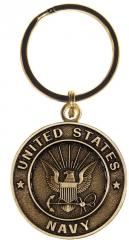 US Navy Bronze Key Ring