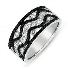 D4275BLWG White Gold Black & White Diamond