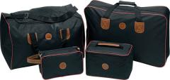 4pc 600D Black Nylon Luggage Set