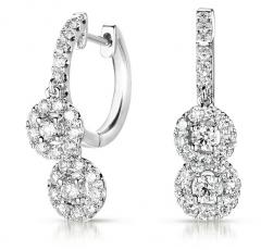 E7794WG White Gold Diamond Hoop Earring