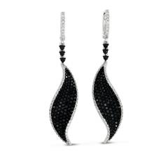 E7759WG White & Black Diamond Earring