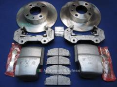 Brake Overhaul KIT - Front LH+RH Calipers Rotors
