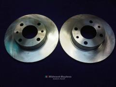 Brake Rotor PAIR 2x (Fiat X19, 124, 131, 128, 850,