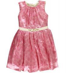 Lace Print Charmeuse Dress