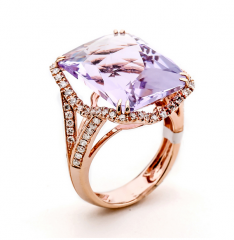 LQ14015L  Pink Diamond Ring