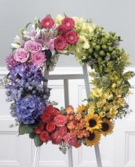 Rainbow Glory Wreath