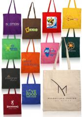 Colored natural Cotton Tote Bags