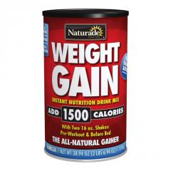 Naturade Weight Gain - No Sugar Added - 38.94 oz