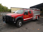 Aluminum brush/rescue body on a ford f550 chassis