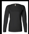 Black Ladies' Long Sleeve T-Shirt