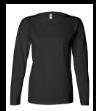 Black Ladies' Long Sleeve T-Shirt