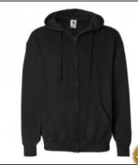 Black Badger - Full-Zip Hooded Sweatshirt by