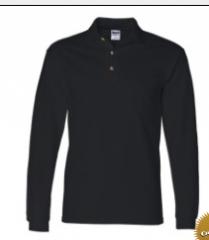 Cotton Long Sleeve Ringspun Pique Sport Shirt