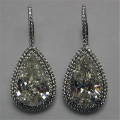 Diamond Pear Shaped Micro Set Earrings