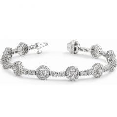 Diamond Bracelets with White Gold