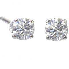 Diamond Earrings with White Gold