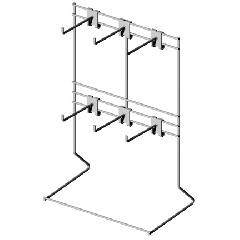 Countertop Display with Hooks