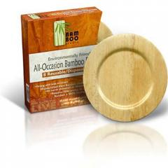 """9"""" Round Bamboo Plate"""
