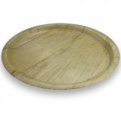 """13.25"""" Round Bamboo Tray"""