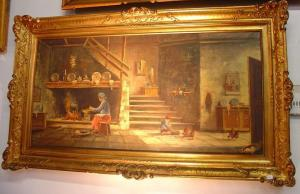 Antique Gilt Framed French Oil Painting