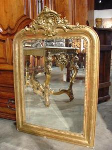 Antique Louis Philippe Giltwood Mirror