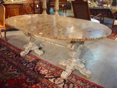 Antique Italian Table with Original Marble
