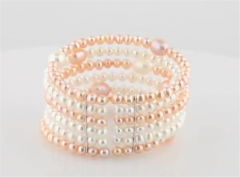 Freshwater Cultured White & Pink Pearl