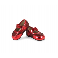 Baby Girls Sparkly Red Mary Jane Shoes