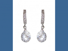 Elegant White Platinum Plated With Irregular Shape