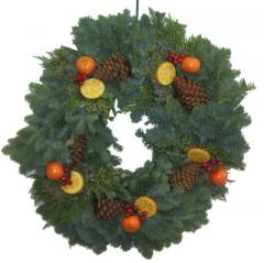 Mixed Wreath with Oranges