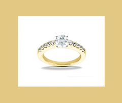 1403 14k Yellow Gold Engagement Ring