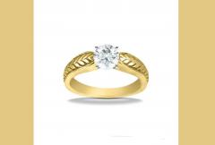 2723 18K Yellow Gold Vintage Engagement Ring