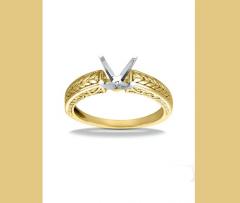 2671 18K Yellow Gold Vintage Engagement Ring