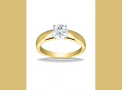 1269 14k Yellow Gold Classic Solitaire Engagement